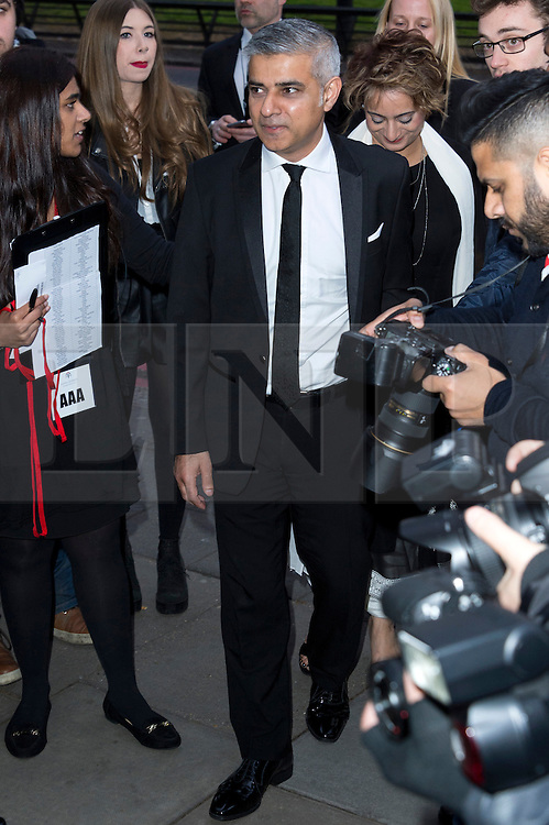 © Licensed to London News Pictures. 08/04/2016. SADIQ KHAN attends The Asian Awards celebrating the best in Asian achievement across business, sport, philanthropy, and popular arts and culture. London, UK. Photo credit: Ray Tang/LNP