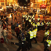 G20 protest in the City of London, involving happenings, street food and some police battering.