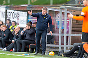 John Robertson, manager of Inverness Caledonian Thistle FC signals to his payers during the William Hill Scottish Cup quarter final match between Dundee United and Inverness CT at Tannadice Park, Dundee, Scotland on 3 March 2019.
