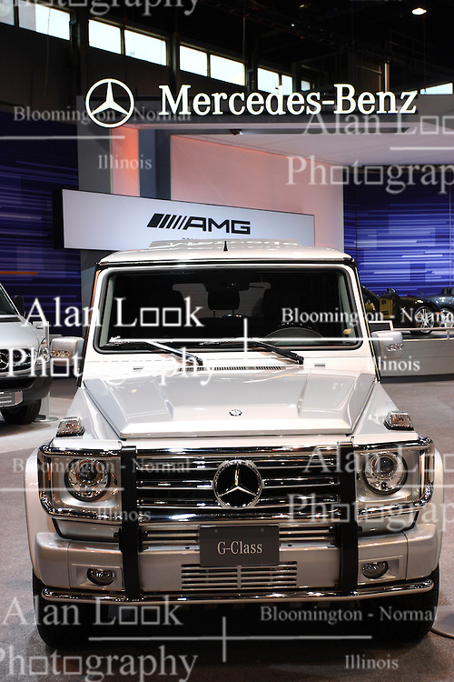 08 February 2012: Mercedes Benz G Class SUV Chicago Auto Show, Chicago Automobile Trade Association (CATA), McCormick Place, Chicago Illinois