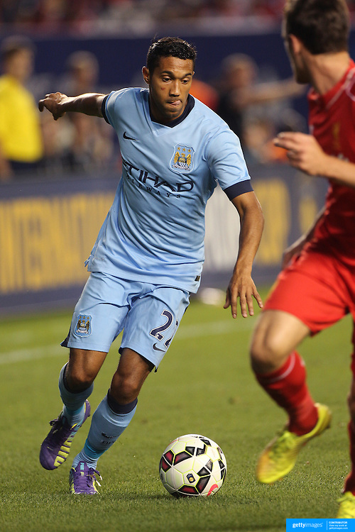 Gaël Clichy, Manchester City, in action during the Manchester City Vs Liverpool FC Guinness International Champions Cup match at Yankee Stadium, The Bronx, New York, USA. 30th July 2014. Photo Tim Clayton