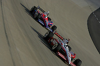 Darren Manning and Kosuke Matsuura at the Nashville Superspeedway, Firestone Indy 200, July 16, 2005