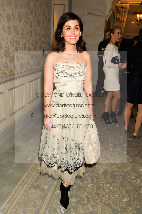 KATIE MELUA at the Gift of Life Old Russian New Year's Eve charity gala held at The Savoy Hotel, London on 13th January 2016.