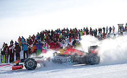 14.01.2016, Hahnenkamm, Kitzbühel, AUT, FIA, Formel 1, Projekt Spielberg Showrun, im Bild Showrun mit Max Verstappen (NED) Red Bull Racing RB7 // Daniel Ricciardo of Netherlands on Red Bull Racing RB7 in action during the Project Spielberg Showrun at Hahnenkamm in Kitzbuehel, Austria on 2016/01/14. EXPA Pictures © 2016, PhotoCredit: EXPA/ Johann Groder
