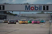 November 19-22, 2015: Lamborghini Super Trofeo at Sebring Intl Raceway. Start of World Final Gallardo and Huracan AM race