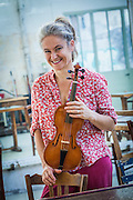 Alice Pierot, French violonist at her home - La Courroie - Entraigues sur la Sorgue - France - 2011/10/03 - © Denis Dalmasso