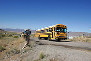 US-KINGMAN:  A schoolbus on the famous Route 66. PHOTO: GERRIT DE HEUS
