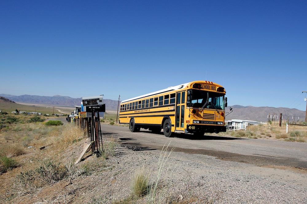 US-KINGMAN:  A schoolbus on the famous Route 66. PHOTO: GERRIT DE HEUS