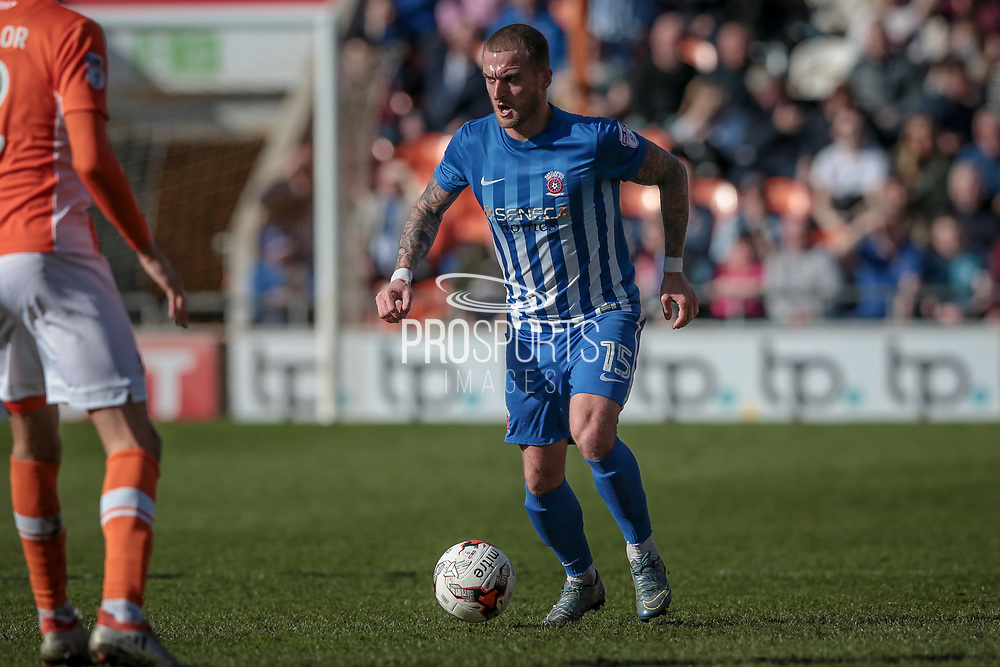 Lewis Alessandra (Hartlepool United) runs with the ball during the EFL Sky Bet League 2 match between Blackpool and Hartlepool United at Bloomfield Road, Blackpool, England on 25 March 2017. Photo by Mark P Doherty.