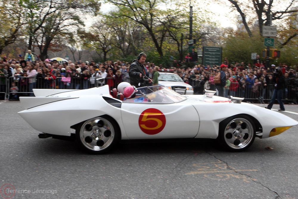26 November 2009, NY, NY- Speed Racer Car at The 2009 Macy's Day Parade held on November 26, 2009 in New York City. Terrence Jennings/Sipa