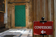 Confession room inside the Baptistery, Campo dei Miracoli, Pisa, Italy.