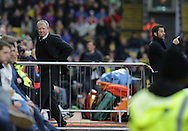 The two manager Steve McCLaren and Sanchez Flores during the The FA Cup Third Round match between Watford and Newcastle United at Vicarage Road, Watford, England on 9 January 2016. Photo by Dave Peters.