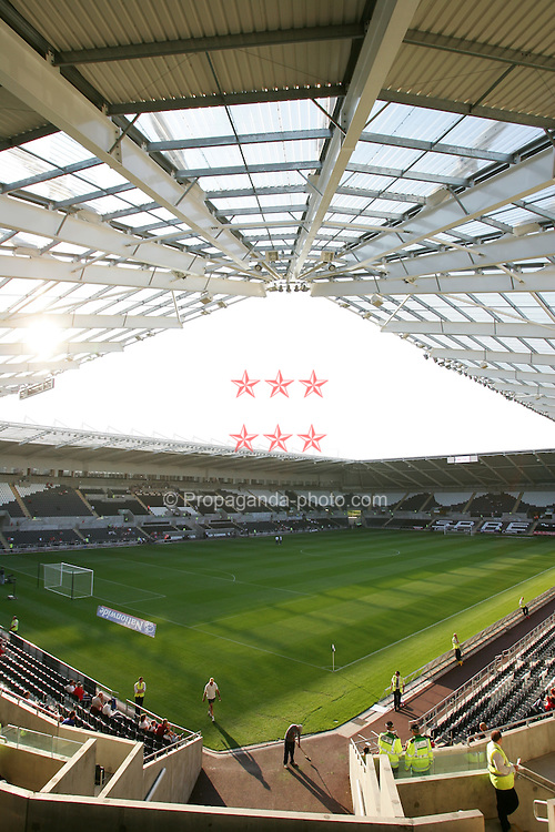 SWANSEA, WALES - WEDNESDAY, AUGUST 17th, 2005: The New Stadium. (Pic by David Rawcliffe/Propaganda)
