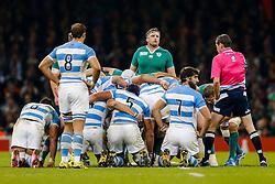 Ireland Number 8 Jamie Heaslip (capt) - Mandatory byline: Rogan Thomson/JMP - 07966 386802 - 18/10/2015 - RUGBY UNION - Millennium Stadium - Cardiff, Wales - Ireland v Argentina - Rugby World Cup 2015 Quarter Finals.