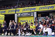 Panchina Brescia, VIRTUS SEGAFREDO BOLOGNA vs GERMANI BASKET BRESCIA, Poste Mobile Final 8 2018 Quarti di Finale, Lega Basket 2017/2018 Firenze 16 febbraio 2018 Nelson Mandela Forum