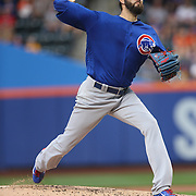 NEW YORK, NEW YORK - July 01: Pitcher Jason Hammel #39 of the Chicago Cubs pitching during the Chicago Cubs Vs New York Mets regular season MLB game at Citi Field on July 01, 2016 in New York City. (Photo by Tim Clayton/Corbis via Getty Images)