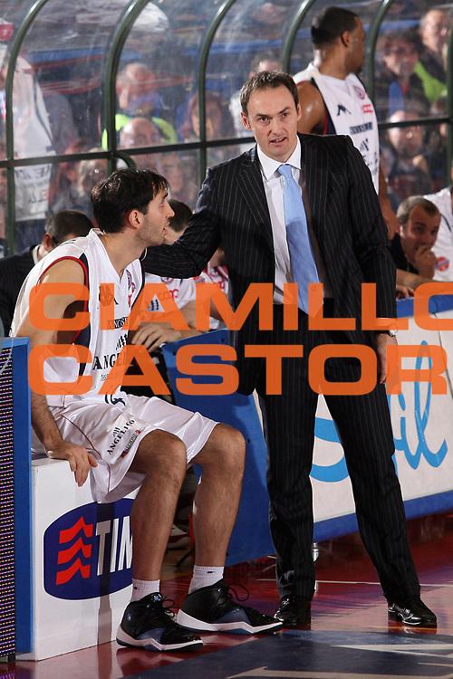 DESCRIZIONE : Biella Lega A1 2007-08 Angelico Biella Eldo Napoli<br /> GIOCATORE : Luca Bechi Walter Santarossa<br /> SQUADRA : Angelico Biella<br /> EVENTO : Campionato Lega A1 2007-2008<br /> GARA : Angelico Biella Eldo Napoli<br /> DATA : 30/12/2007<br /> CATEGORIA : Ritratto<br /> SPORT : Pallacanestro<br /> AUTORE : Agenzia Ciamillo-Castoria/S.Ceretti