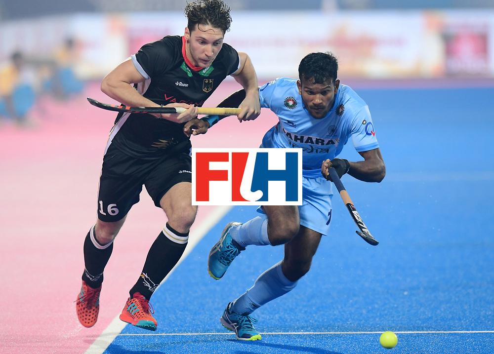 Odisha Men's Hockey World League Final Bhubaneswar 2017<br /> Match id:10<br /> India v Germany<br /> Foto: Amit Rohidas (Ind)  in dual with Dieter Linnekogel (Ger) <br /> WORLDSPORTPICS COPYRIGHT FRANK UIJLENBROEK