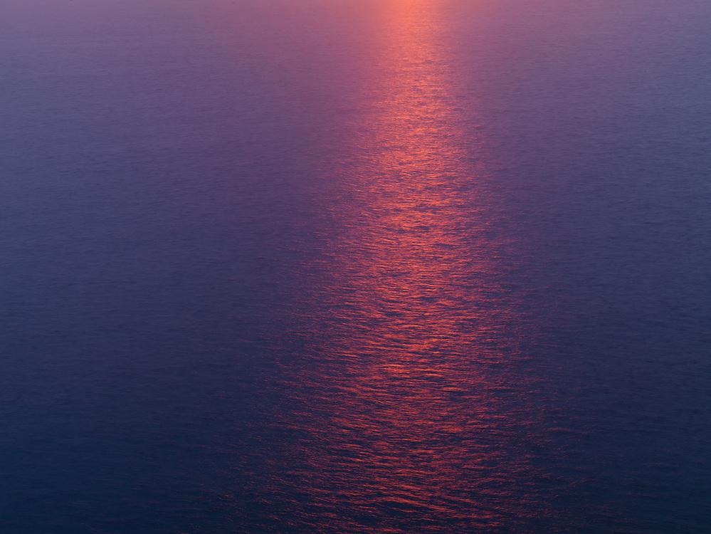Ireland western coast view over sea from Cliffs of Moher Burrren region