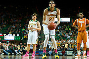 WACO, TX - JANUARY 25: Isaiah Austin #21 of the Baylor Bears shoots a free-throw against the Texas Longhorns on January 25, 2014 at the Ferrell Center in Waco, Texas.  (Photo by Cooper Neill/Getty Images) *** Local Caption *** Isaiah Austin