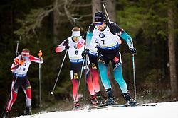 Simon Desthieux (FRA) in action during the Pursuit Men 12,5 km at day 8 of IBU Biathlon World Cup 2018/19 Pokljuka, on December 9, 2018 in Rudno polje, Pokljuka, Pokljuka, Slovenia. Photo by Urban Urbanc / Sportida
