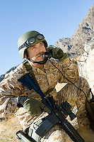 Soldier Using Field Phone