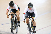 Christie Tahlay and Tess Young during the 2019 Vantage Elite and U19 Track Cycling National Championships at the Avantidrome in Cambridge, New Zealand on Friday, 08 February 2019. ( Mandatory Photo Credit: Dianne Manson )