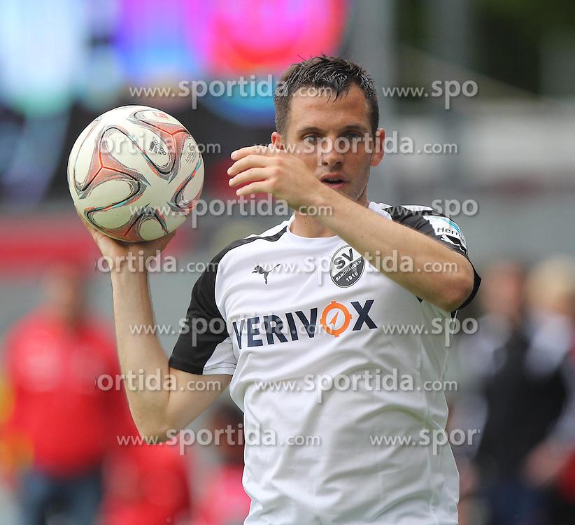 03.05.2015, Hardtwald, Sandhausen, GER, 2. FBL, SV Sandhausen vs 1. FC Heidenheim, 31. Runde, im Bild Kevin Kratz (SV Sandhausen) // during the 2nd German Bundesliga 31th round match between SV Sandhausen and 1. FC Heidenheim at the Hardtwald in Sandhausen, Germany on 2015/05/03. EXPA Pictures &copy; 2015, PhotoCredit: EXPA/ Eibner-Pressefoto/ Bermel<br /> <br /> *****ATTENTION - OUT of GER*****