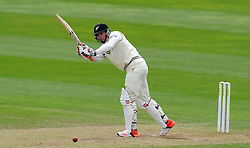 New Zealand's Doug Bracewell flicks the ball. Photo mandatory by-line: Harry Trump/JMP - Mobile: 07966 386802 - 10/05/15 - SPORT - CRICKET - Somerset v New Zealand - Day 3- The County Ground, Taunton, England.