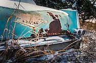 Alberta Canada, vintage Cadillac car, back