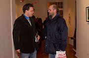 Darren Coffield and Gavin Turk, Colony Room club exhibition and auction. Elms Lester Painting rooms, Flitcroft St. 5 December 2003. © Copyright Photograph by Dafydd Jones 66 Stockwell Park Rd. London SW9 0DA Tel 020 7733 0108 www.dafjones.com