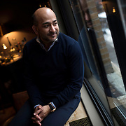 February 5, 2014 - New York, NY : Attivio Inc. CEO and co-founder Ali I. Riaz poses for a portrait at Soho House in Manhattan on Wednesday afternoon. <br /> CREDIT: Karsten Moran for The New York Times