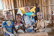 Maasai children in their village school in Amboseli, Kenya.
