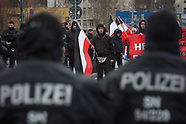 neo nazi march in Leipzig, Germany