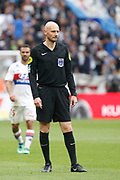 Gautier Antony referee during the French Championship Ligue 1 football match between Olympique Lyonnais and FC Nantes on April 28, 2018 at Groupama Stadium in Décines-Charpieu near Lyon, France - Photo Romain Biard / Isports / ProSportsImages / DPPI