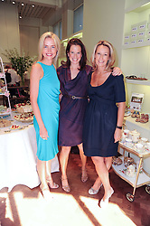 Left to right, FELICIA BROCKLEBANK, MAGGIE SNOUCK-HURGRONJE and NICOLE ROBINSON at Papillon Shoes Enchanted Tea Party Store Launch 98 Marylebone Lane, London W1 on 25th May 2010.