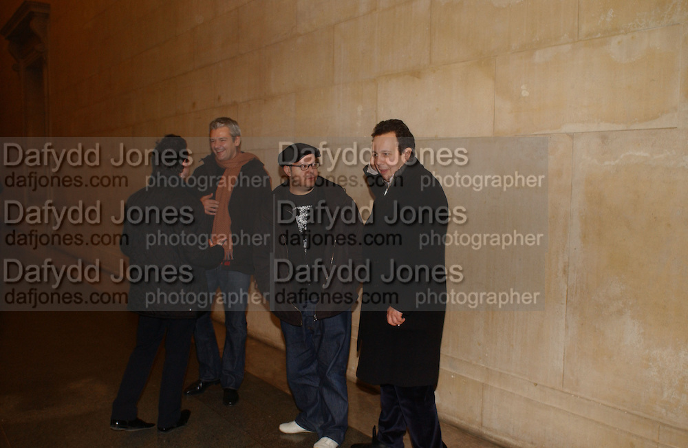 Haluk Akace and Detmar Blow. Triennial 2006 Tate Britain,  Millbank. London. 28 February 2006.  ONE TIME USE ONLY - DO NOT ARCHIVE  © Copyright Photograph by Dafydd Jones 66 Stockwell Park Rd. London SW9 0DA Tel 020 7733 0108 www.dafjones.com