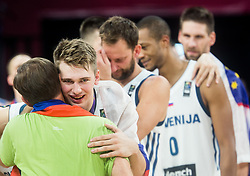 Luka Doncic of Slovenia receiving a gold medal from Miroslav Cerar, Prime minister of Slovenia  at Trophy ceremony after winning during the Final basketball match between National Teams  Slovenia and Serbia at Day 18 of the FIBA EuroBasket 2017 when Slovenia became European Champions 2017, at Sinan Erdem Dome in Istanbul, Turkey on September 17, 2017. Photo by Vid Ponikvar / Sportida