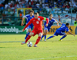 Wayne Rooney of England (Manchester United) scores a penalty to put England 1 up and equals England's goals scored record  - Mandatory byline: Joe Meredith/JMP - 07966386802 - 05/09/2015 - FOOTBALL- INTERNATIONAL - San Marino Stadium - Serravalle - San Marino v England - UEFA EURO Qualifers Group Stage
