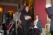 THE REVEREND RICHARD COLES; ARTHUR HOUSE, The Literary Review Bad Sex in Fiction Award 2014. The In and Out ( Naval and Military ) Club, 4 St. James's Sq. London SW1. 3 December 2014.