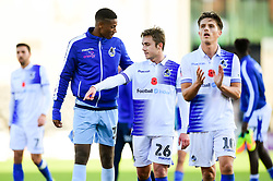 Sam Matthews of Bristol Rovers and Alexis Andre Jr of Bristol Rovers after the final whistle of the match - Mandatory by-line: Ryan Hiscott/JMP - 11/11/2018 - FOOTBALL - The Hive - Barnet, England - Barnet v Bristol Rovers - Emirates FA Cup first round proper