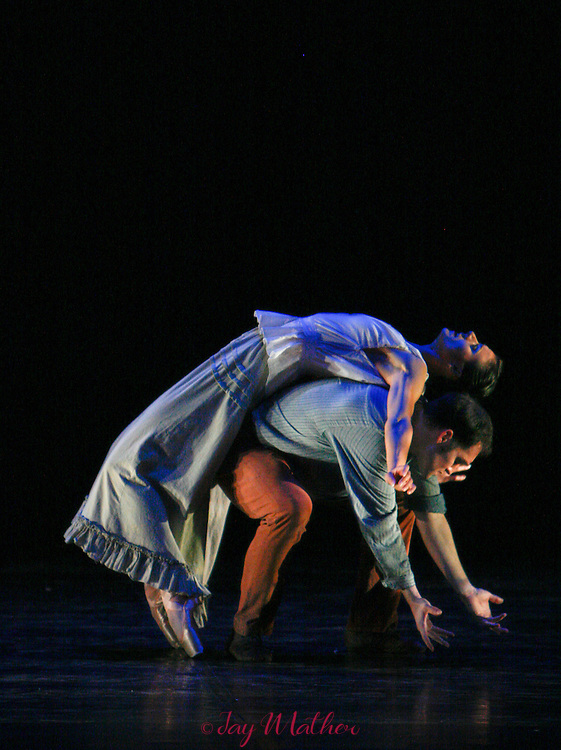 """The Sacramento Ballet Company performs the World Premiere of """"A Woman's Journey: The Tamsen Donner Story"""", choreographed by Ron Cunningham, Wednesday, October 24, 2007 at the Community Center Theatre."""
