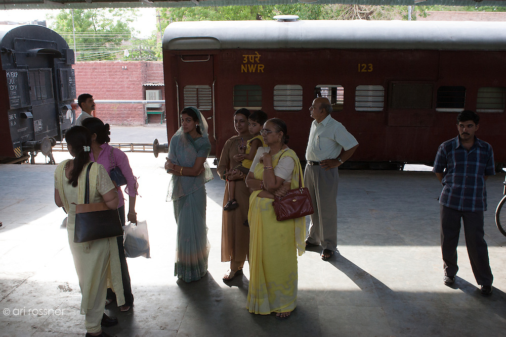 People at the railway station