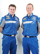 James Moffat & Steve Richards.FPR Enduro Drivers Line up.Ford Performance Racing Workshop.Campbellfield, Victoria.28th July 2010.(C) Joel Strickland Photographics.Use information: This image is intended for Editorial use only (e.g. news or commentary, print or electronic). Any commercial or promotional use requires additional clearance.