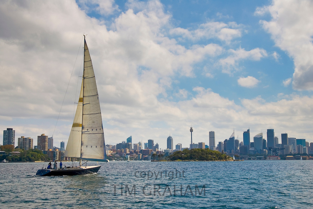Yacht sails inSydney Harbour, Australia