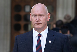 © Licensed to London News Pictures. 11/12/2019. London, UK. Former Trooper Simon Uttley, who survived the 1982 Hyde Park bombing, arrives at The High Court where he will be a witness in the civil case against convicted IRA member John Downey. A previous criminal case against Downey at The Old Bailey collapsed in 2014 after it emerged he had received a so-called 'on the run' letter dating back to 2007 a part of the Good Friday Agreement peace deal. The Hyde Park bombing in July 1982 killed Squadron Quartermaster Corporal Roy Bright, Lieutenant Anthony Daly, Lance Corporal Jeffrey Young and Trooper Simon Tipper. Photo credit: Peter Macdiarmid/LNP