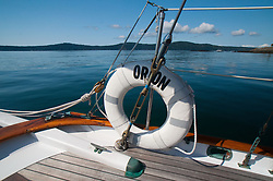 Life Ring on Orion at Jones Island State Park, San Juan Islands, Washington, US