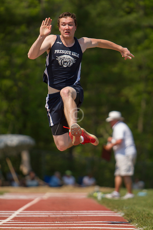 Boys long jump; Maine State Track & FIeld Meet - Class B