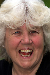 Portraits of Marion Chilcott  who was at the WI Triennial general meeting at Wembley. Marion protested that Tony Blair was becoming too political in his speech. Marion at her home in Baldock. She makes chutney to sell at the WI markets, Marion's home in Baldock. June 8, 2000. Photo by Andrew Parsons / i-images..