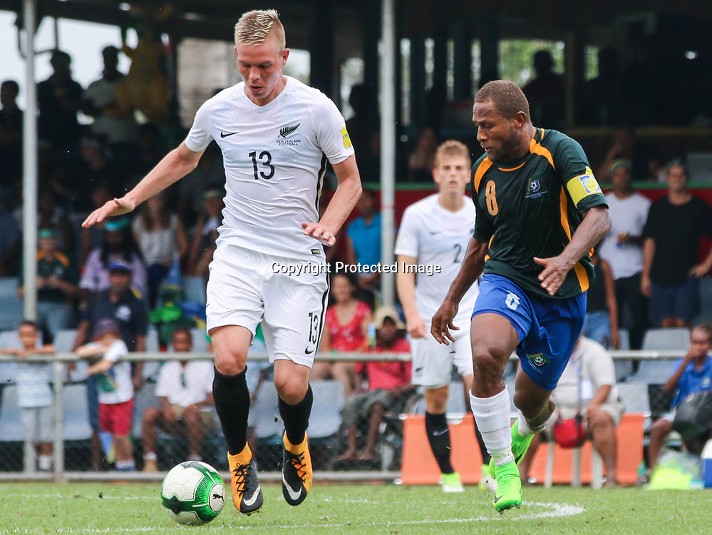 Monty Patterson.<br /> Fifa World Cup Qualifier, Solomon Islands v New Zealand All Whites, Lawson Tama Stadium, Honiara, Solomon Islands, 5 September 2017. Photo: OFC Media / www.photosport.nz